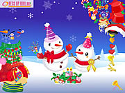 Play Dressup the snowmen
