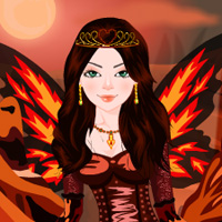 Play Fire Queen Dress up