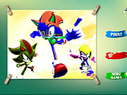 Play Sonic Coloring Game