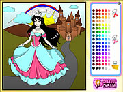 Play Castle Of Princess Coloring Game